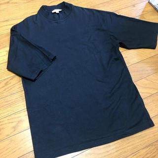 ハイク(HYKE)のHYKE ハイク コットンTシャツ 黒 ブラック ハイネック モックネック (Tシャツ(半袖/袖なし))