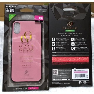 エレコム(ELECOM)のiPhoneXRガラスGRANGLASS ピンク 292(その他)