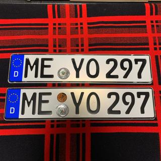 ビーエムダブリュー(BMW)の297 本物 ユーロナンバープレート ドイツ BMW ベンツ アウディポルシェ(車外アクセサリ)