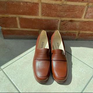 サンローラン(Saint Laurent)のイブサンローランand REGALコラボ ローファー パンプス 茶色(ローファー/革靴)