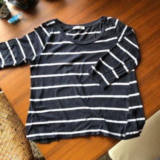ザラ(ZARA)のザラ オーガニックコットンTシャツ(Tシャツ(長袖/七分))
