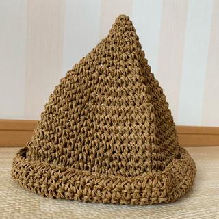 シマムラ(しまむら)のどんぐり帽 麦わら帽子 48cm(帽子)