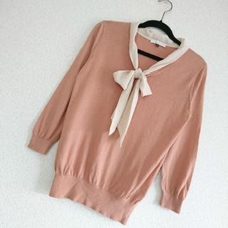 PROPORTION BODY DRESSING - プロポーションボディドレッシング⭐ボウタイリボンニット トップス