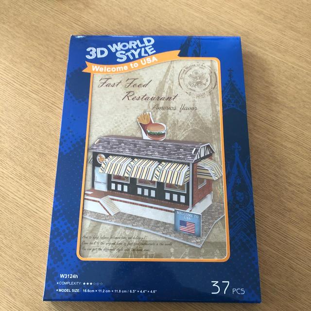 3Dパズル アメリカ ファーストフードレストラン エンタメ/ホビーのおもちゃ/ぬいぐるみ(模型/プラモデル)の商品写真