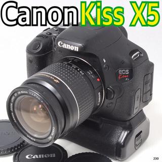 キヤノン(Canon)の✨スマホ転送♪ バッテリー2個♪ ✨キヤノン Canon EOS kiss X5(デジタル一眼)
