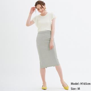 ジーユー(GU)のgu カットソータイトスカート グレー(その他)