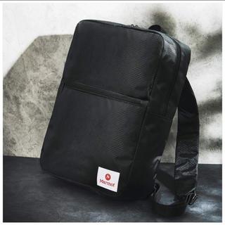 マーモット(MARMOT)の新品未使用 Marmot 黒 バックパック 薄マチBOX型リュック(バッグパック/リュック)