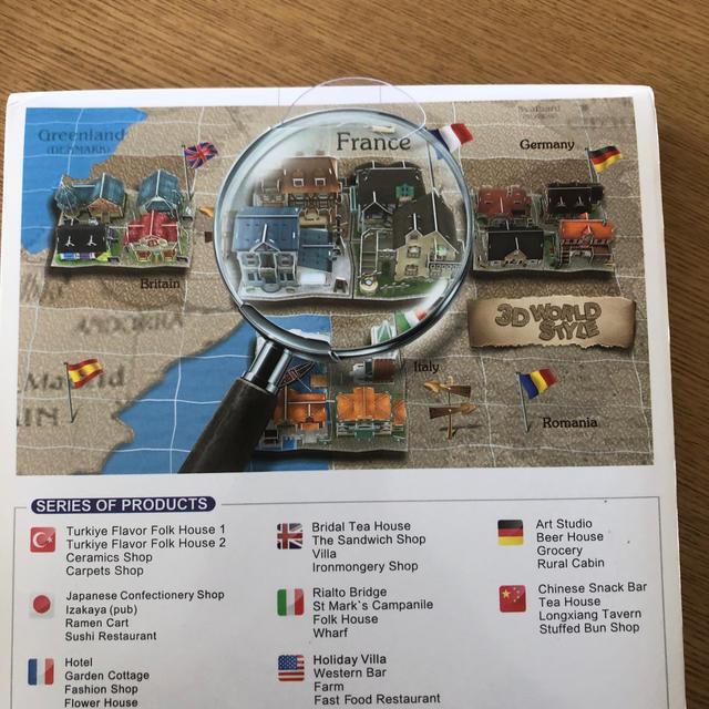 3Dパズル フランス ファッションショップ エンタメ/ホビーのおもちゃ/ぬいぐるみ(模型/プラモデル)の商品写真