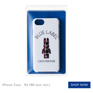バーバリーブルーレーベル(BURBERRY BLUE LABEL)の正規品❤️ブルーレーベルクレストブリッジ ラブリック iPhoneケース(iPhoneケース)