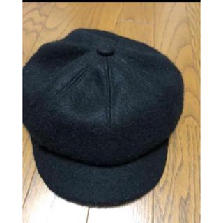 スピンズ(SPINNS)のキャスケット 帽子 キャップ ブラック 黒色 ハンチング帽(キャスケット)