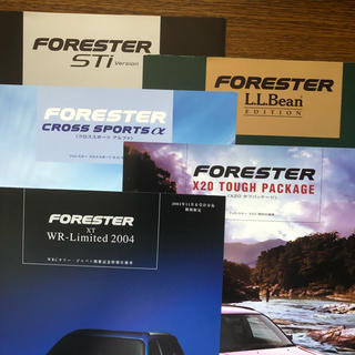 スバル(スバル)のスバル フォレスター 特別仕様車カタログ(5冊セット)(カタログ/マニュアル)