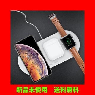 iphone アップルウォッチairpod 3in1充電器 カラー:黒(バッテリー/充電器)