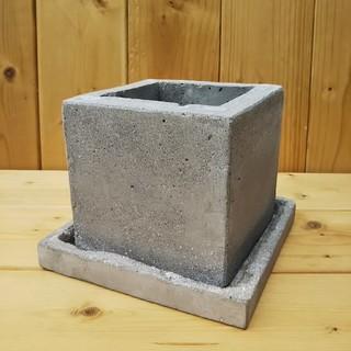 シンプル プランター スクエア S 皿付 多肉植物 鉢 鉢植え ガーデニング (プランター)