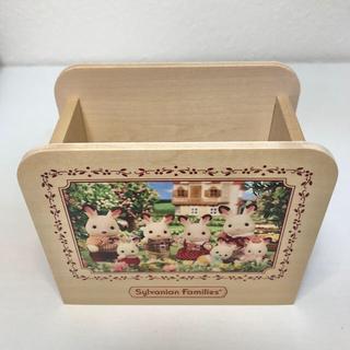 エポック(EPOCH)のシルバニア  ぺんたて ペンスタンド 木箱に入ったクッキー グッズ 文房具(ペンケース/筆箱)