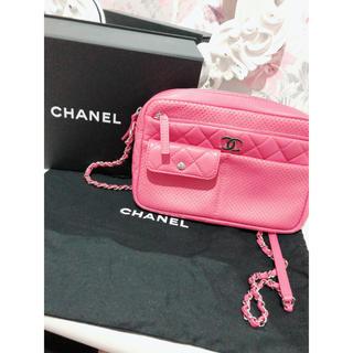 シャネル(CHANEL)のCHANEL カメラ ショルダーバッグ ピンク(ショルダーバッグ)