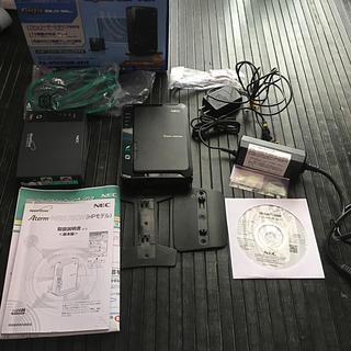 エヌイーシー(NEC)の送料込 高速Wi-Fi延長機(子機)付 NEC  PA-WR8750N-HP/E(PC周辺機器)