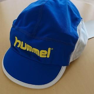 ヒュンメル(hummel)の新品 ヒュンメル サッカー キャップ つば付 UV加工 濡らして使える キッズ(帽子)