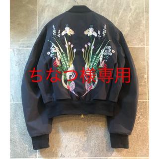 マメ(mame)の希少 mame マメ デサント MA-1ジャケット DESCENTE  フラワー(ブルゾン)