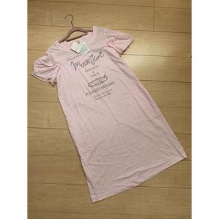 ナルエー(narue)の★ナルエー★半袖ワンピースパジャマ♪ピンク色ルームウェア★新品美品♪部屋着♪(ルームウェア)