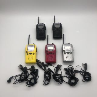 ケンウッド(KENWOOD)のKENWOOD 特定小電力トランシーバー UBZ-LM20 5個 インカム付き(アマチュア無線)