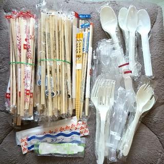 【使い捨て】割りばし&スプーン&フォーク(カトラリー/箸)