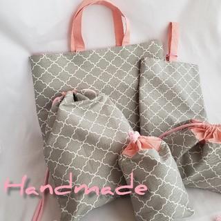 入園グッズ5点セット〜Handmade(バッグ/レッスンバッグ)