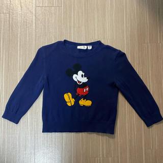 ユニクロ(UNIQLO)のミッキーマウス セーター 100 UNIQLO (ニット)