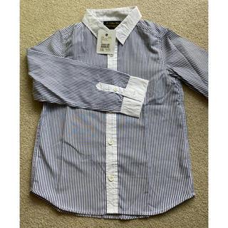 エーキャンビー(A CAN B)の【新品】ストライプクレリックシャツ 長袖 130cm(Tシャツ/カットソー)