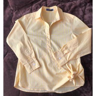 ピッチン(PICCIN)のPICCIN ピッチンのイエローギンガムチェックのシャツ(シャツ/ブラウス(長袖/七分))