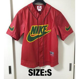 シュプリーム(Supreme)のSupreme x Nike Leather Baseball Jersey(レザージャケット)