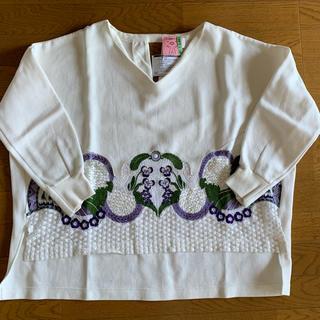 マメ(mame)のMame Kurogouchi 刺繍スエットプルオーバー(トレーナー/スウェット)