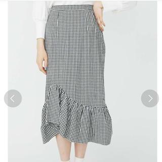 メリージェニー(merry jenny)のmerry jenny チェックマーメイドスカート(ひざ丈スカート)