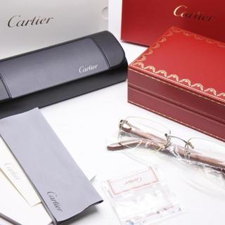 カルティエ(Cartier)のCARTIER カルティエ 木 クロコ型押し 140b □19 ウッド 正規(サングラス/メガネ)
