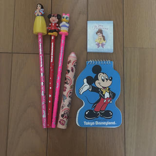 ディズニー(Disney)のディズニーランド 鉛筆、消しゴム、メモ帳(鉛筆)