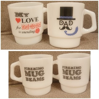 Fire-King - 新品!BEAMS×Fire-King  スタッキングマグ DAD&MOM