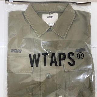 ダブルタップス(W)taps)の【S】WTAPS JUNGLE LS 01 SHIRT COTTON SATIN(シャツ)