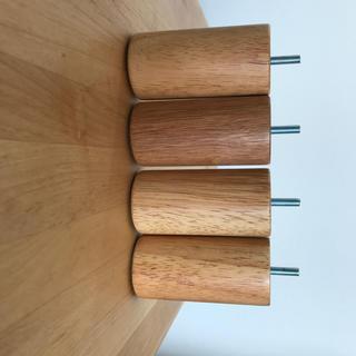 ムジルシリョウヒン(MUJI (無印良品))の無印良品 木製脚・12cm/ナチュラル(M8) 4本組・ナチュラル(脚付きマットレスベッド)