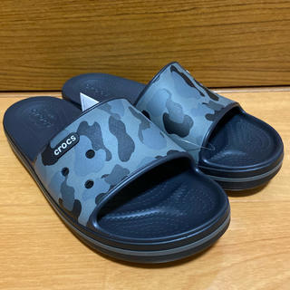 crocs - クロックス スライド シャワーサンダル Black/Grey 25cm