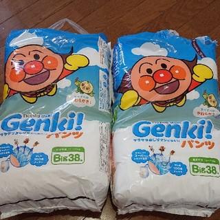 アンパンマン(アンパンマン)のGenki! パンツ Big38枚 男女共用 12〜17kg 2パック(ベビー紙おむつ)