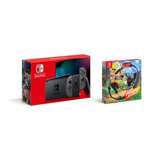 ニンテンドースイッチ(Nintendo Switch)のニンテンドースイッチ グレー&リングフィットアドベンチャー(家庭用ゲーム機本体)