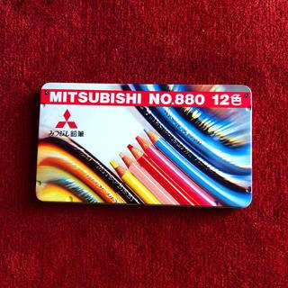 ミツビシ(三菱)のみつびし色鉛筆12色(色鉛筆)