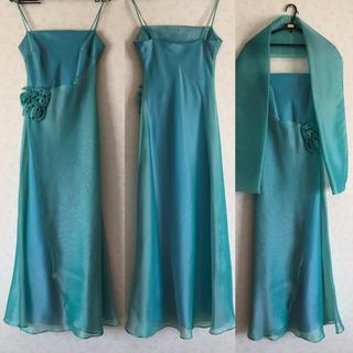 ロングドレス ショール付き Sサイズ(ロングドレス)