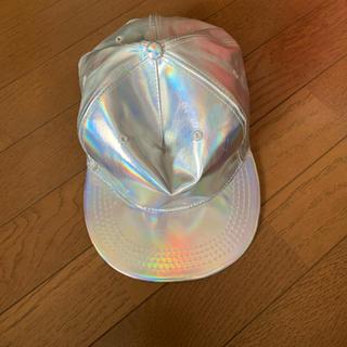 ウィゴー(WEGO)のシルバーキャップ帽子(キャップ)