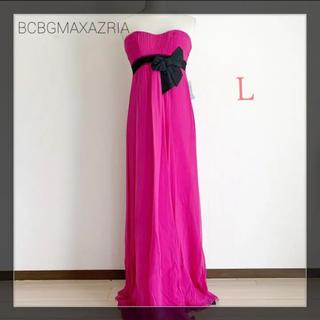 BCBGMAXAZRIA - 【新品】 BCBGMAXAZRIA ロングドレス  ドレス ピンク