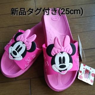 【即購入OK(^-^】ミッキーマウス シャワーサンダル 新品タグ付き 25cm1(サンダル)