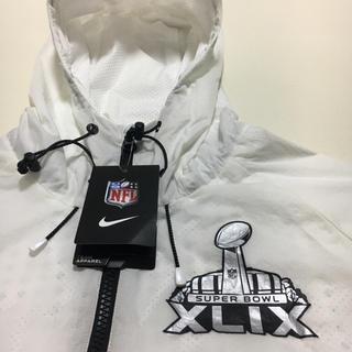ナイキ(NIKE)の新品未使用★ NFL  スーパーボール ナイロン パーカー◆ホワイト Mサイズ(アメリカンフットボール)