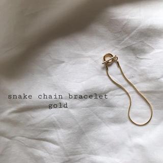アメリヴィンテージ(Ameri VINTAGE)の再入荷 snake chain bracelet gold(ブレスレット/バングル)