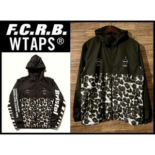 エフシーアールビー(F.C.R.B.)の美品 FCRB WTAPS 18SS セパレート プラクティス ジャケット L黒(マウンテンパーカー)