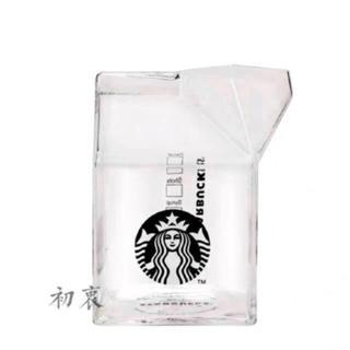 スターバックスコーヒー(Starbucks Coffee)の牛乳パック ガラスタンブラー ストローレス ガラスマグカップ 台湾スターバックス(タンブラー)