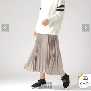ベイフロー(BAYFLOW)の新品 ベイフロー サテンプリーツスカート(ロングスカート)